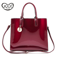 The New Simple European And American Style Female Models Solid Color Handbag Large Capacity Bright Color