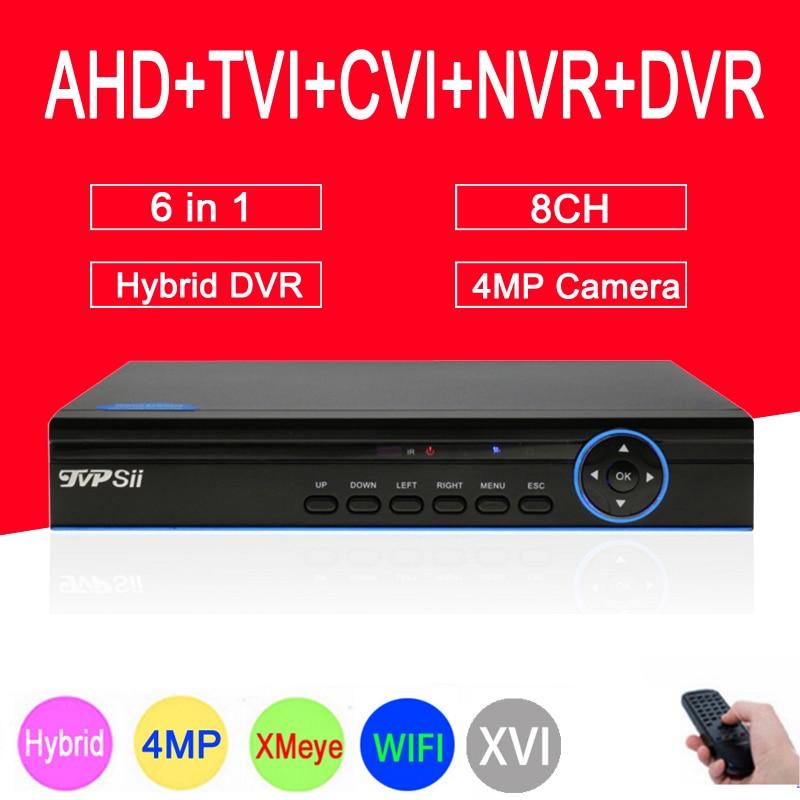 Hi521A 4MP Surveillance Camera Blue Panel XMeye 8CH 5 in 1 Coaxial Hybrid WIFI CVI TVI NVR AHD CCTV DVR Free Shipping