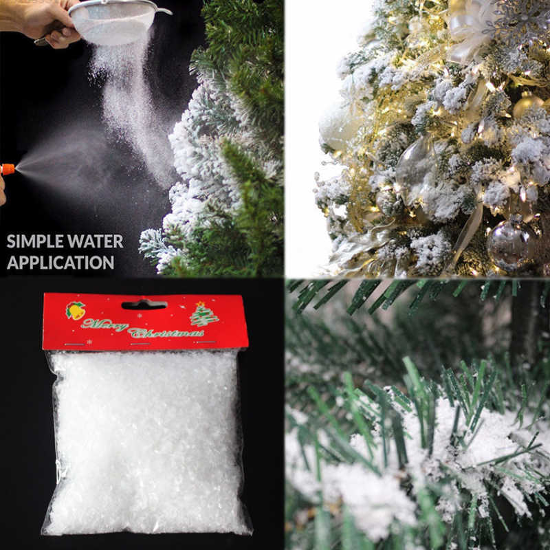 Sale 10/50g Christmas Tree White Snow  Decorations Snowflakes Fake Magic Party For Wedding Artificial Snow Child play