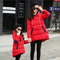 Christmas Kids Down Coat Family Clothing Girls Winter Clothes Children's Cotton Down Jacket Matching Mother Daughter Son Clothes