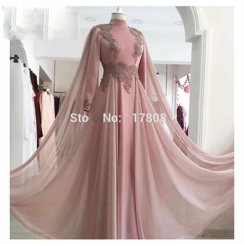 7b74fcd973 Detail Feedback Questions about Pink Muslim Evening Dresses 2019 A ...