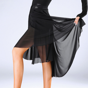 Image 2 - Fashion Women Latin Dance Skirt For Sale Waltz Tango Ballroom Sexy Practice Dancing Training Skirts Performance Wears DL2559