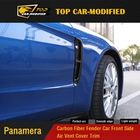 For Porsche Panamera to 971 new Panamera real Carbon Fiber Fender Car Front Side Air Vent Cover Trim 17 18
