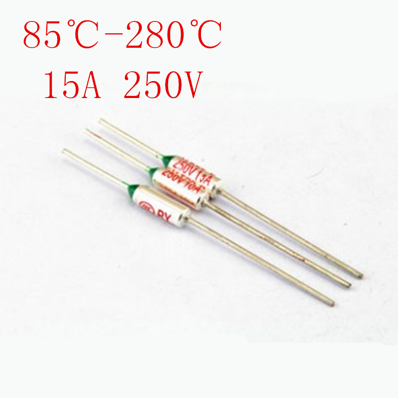 85-280 Celsius Degree 15A 250V Micro Mini Electrical Temp Thermal Fuses Temperature Fuse Thermal Cutoff лопата туристическая с деревянным черенком