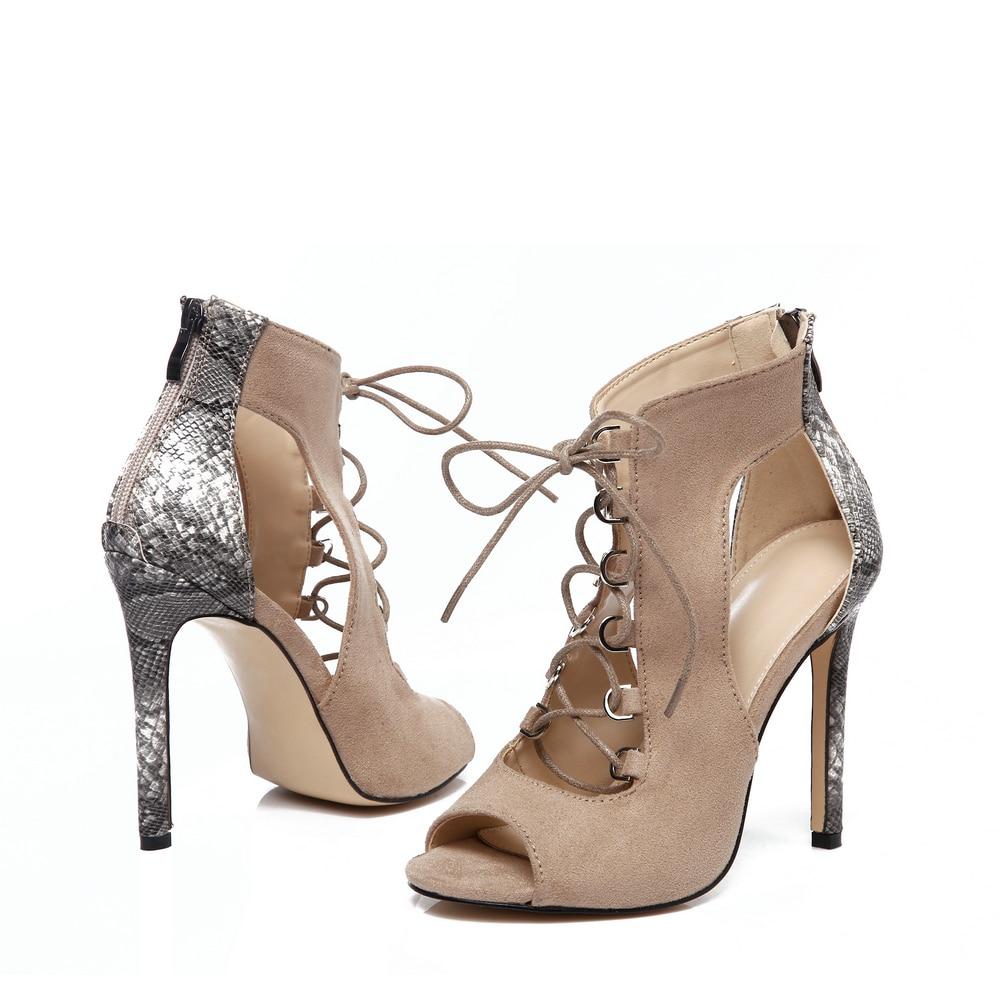 Fletiter 2018 Newest Women Shoes Summer Sandals High Heels Cross Strap Cut  out Shoes Women Sexy Party Sandals for women-in High Heels from Shoes on ... 5593f98c71ba