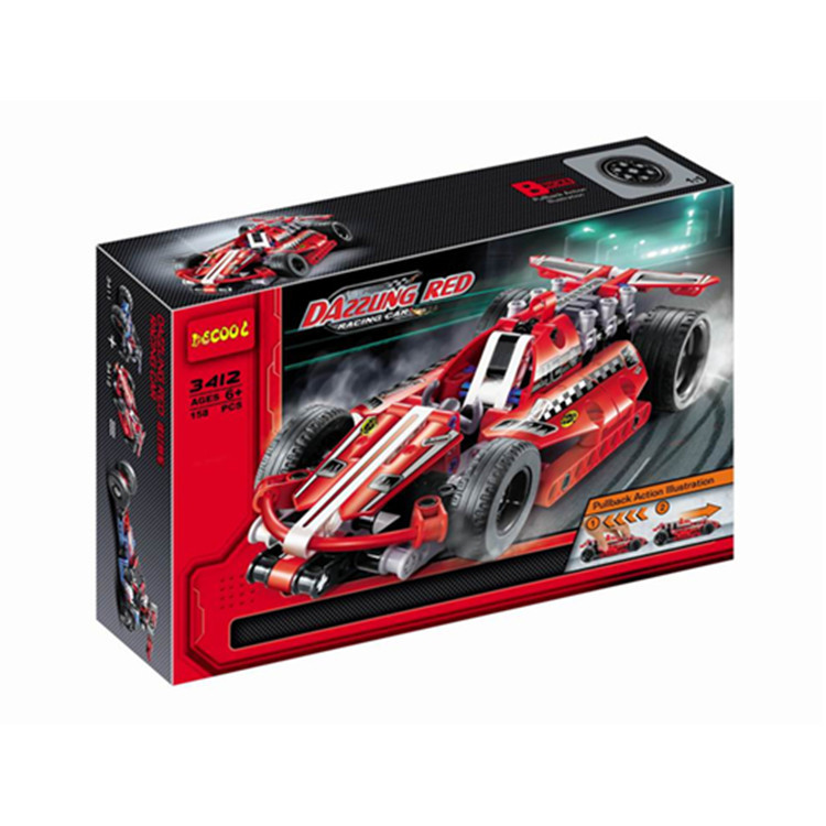 Model building kit compatible with lego city RACING LINE red fire 3D blocks Educational model building toys hobbies for children