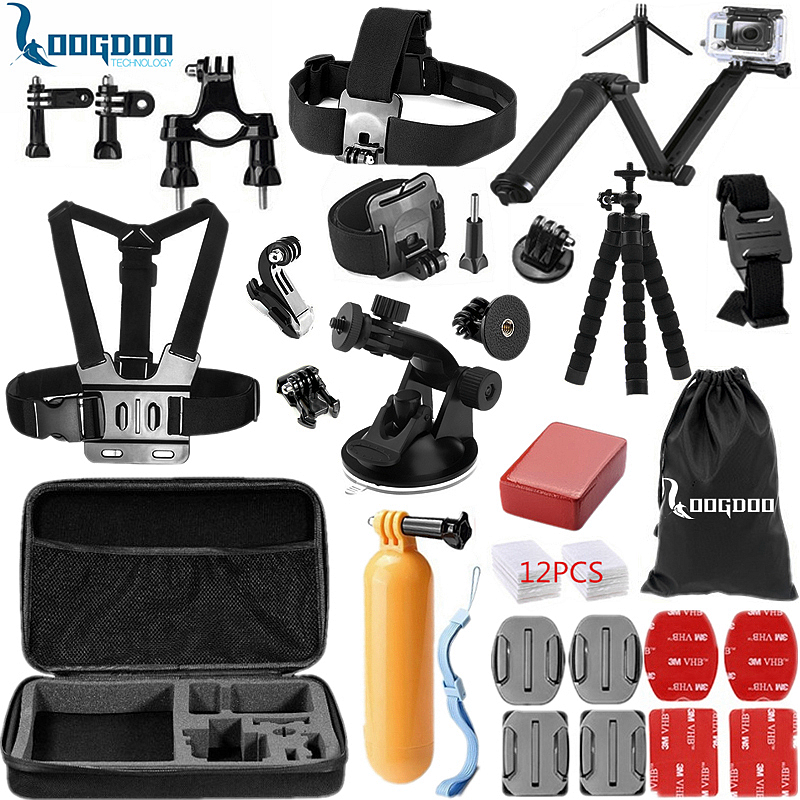 LoogDoo for Gopro Accessories set Three way Monopod for go pro hero 5 4 3 for