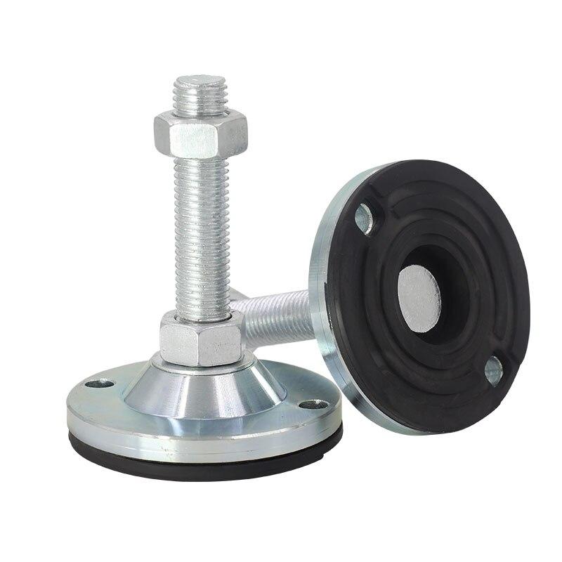 Adjustable Foot Cups M8/M10/M12 Thread Solid Screw furniture support legs Levelling Feet anti-slip Furniture Glide Pad