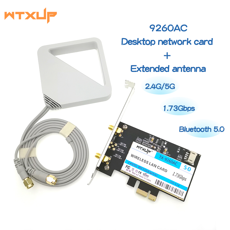 Wireless-AC 9260 AC For Intel 9260ac 9260NGW 802.11ac 1730Mbps PCI-e PCIE 1X WiFi Adapter Bluetooth 5.0 WLAN Network Card(China)