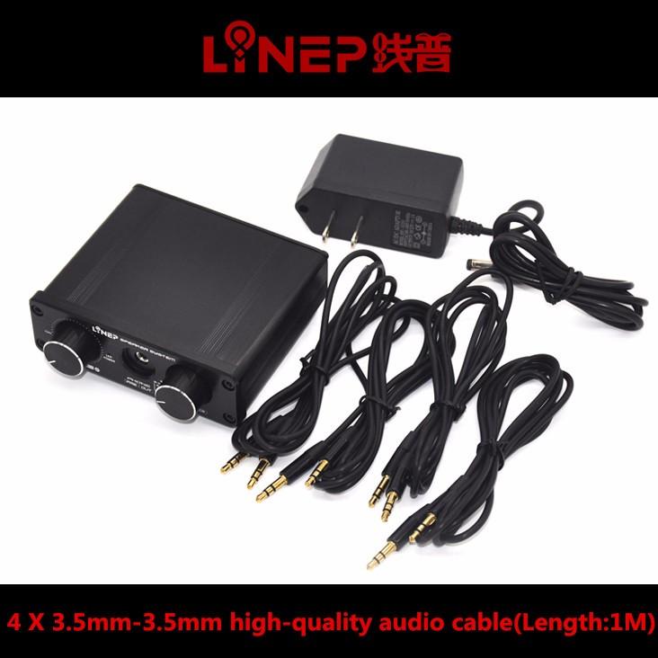 2016 Brand New A926  4-In 2-Out  Mini Audio Switcher Hifi Digital Audio Headphone Amplifier Sound Processor Preamp MP3 Switcher 15