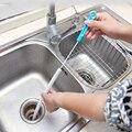 Herramientas de cocina accesorios de baño wc cepillo de limpieza cepillo flexible dragado de tuberías de alcantarillado fregadero limpiador de cepillo de pelo