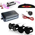 4pcs Parking Sensors Car Reverse Backup Rear Radar System Kit Sound Alert Alarm LED Display Buzzer Alarm D025
