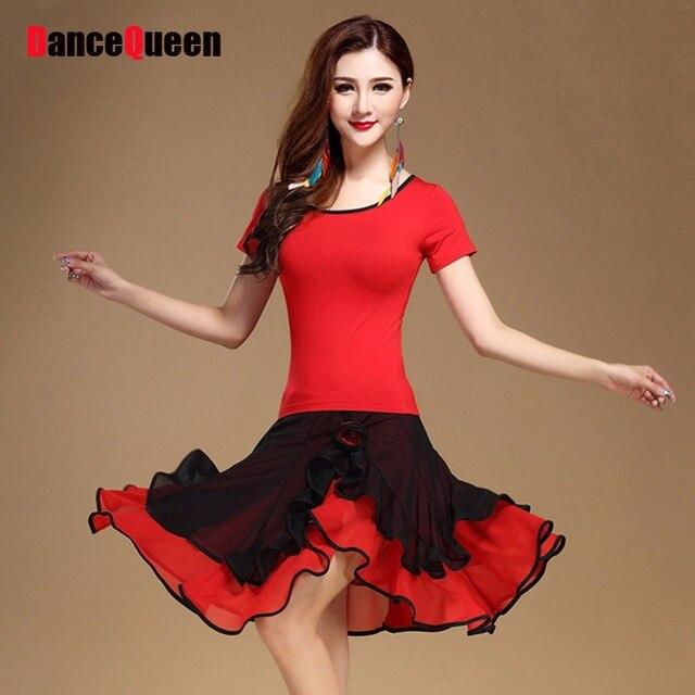 c27f1e58309 Concurso de disfraces de baile latin dance dress competencia mujer blusa y  falda latina vestidos venta