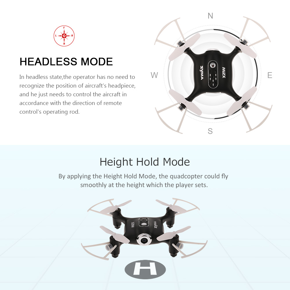 Syma X21W Wifi FPV 720P Camera Drone Barometer Set Height RC Drone Quadcopter Toys APP Phone Control With Battery Controller (5)