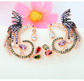 Unique New Arrival Jewelry Top Quality White&Rose Gold Plated Clear Multi CZ Phoenix Stud Earrings for Women Wedding