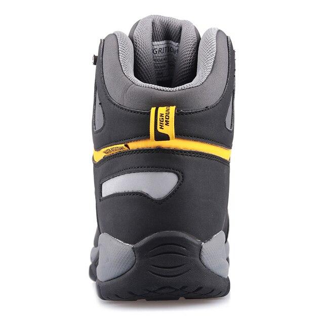 GRITION Men Waterproof Hiking Shoes High Top Walking High Quality Mountain Sport Shoes Soft Shell Trekking Boots Detla Male 2020
