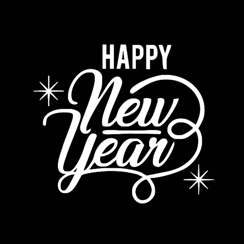 Happy New Year Word Car Stickers Best Wishes Sentence Waterproof Car