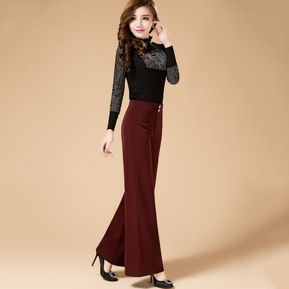 2018 Lady Women Latin/Ballroom Dance Pants Trousers No Top Straight Black/Burgundy Colors Competition Traing Fitness Clothes