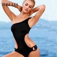Christmas Gift WEIXIA Summer Red Black One Piece Female Swimwear Women Swimsuit Sexy Beach Swim Wear