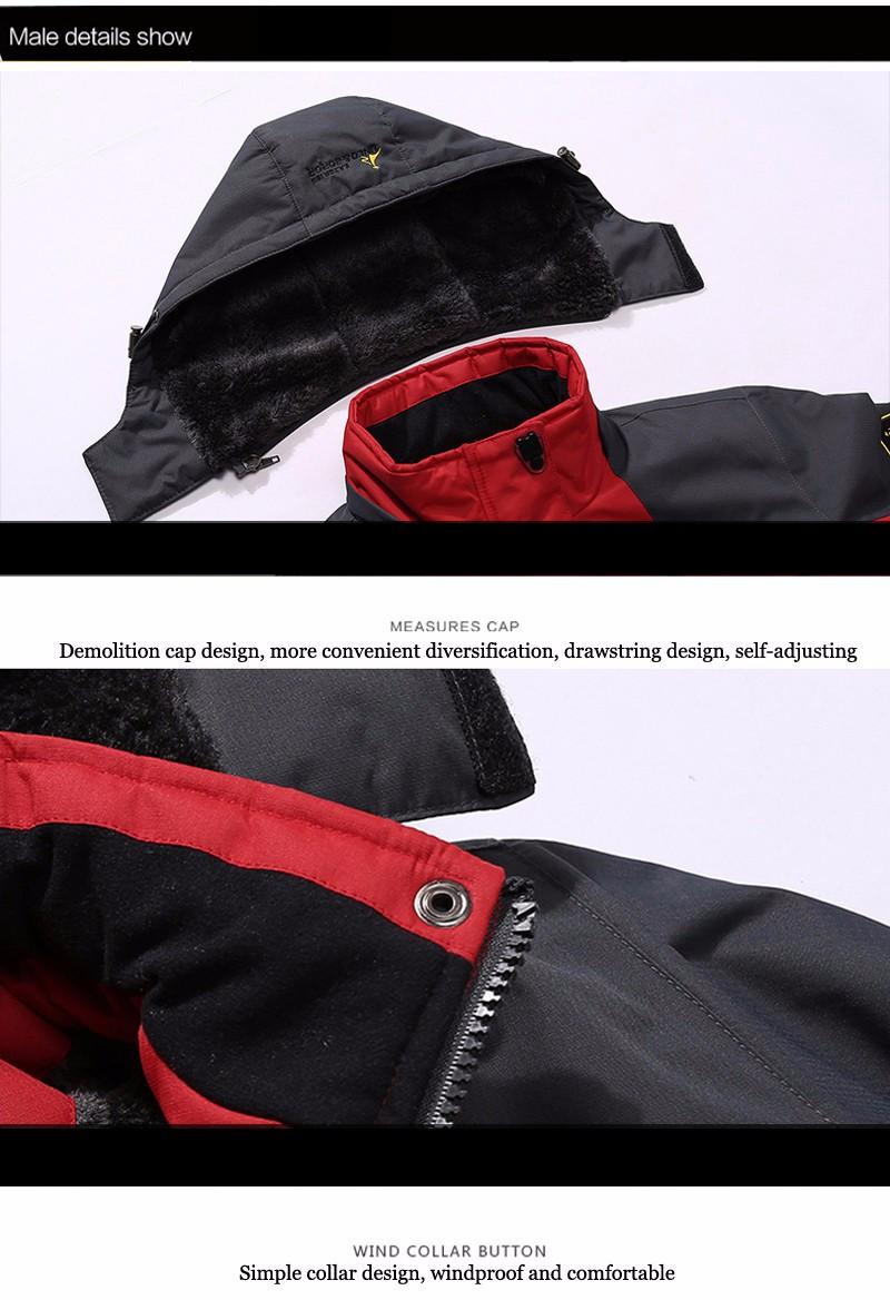 UNCO&BOROR winter jackets men women`s outwear fleece thick warm cotton down coat waterproof windproof parka men brand clothing 23