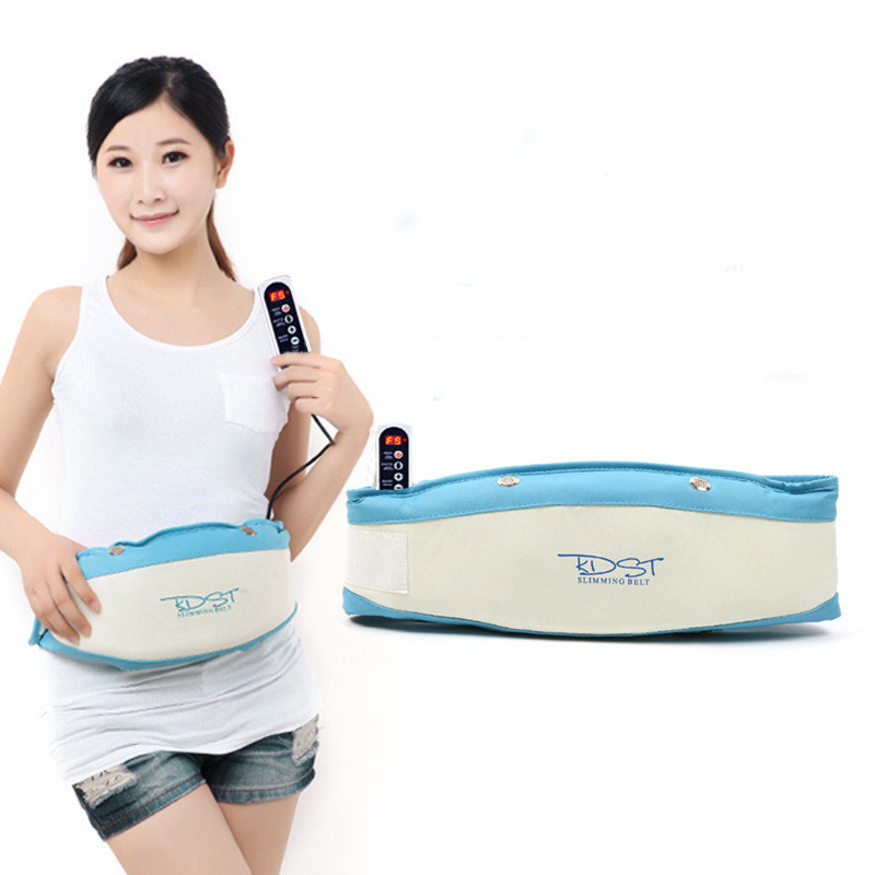 KDST Electric Slimming Belt Massager Waist Belly Tummy Slimming Sauna Belts Vibration Lose Weight Massage Fat Burning Machine купить