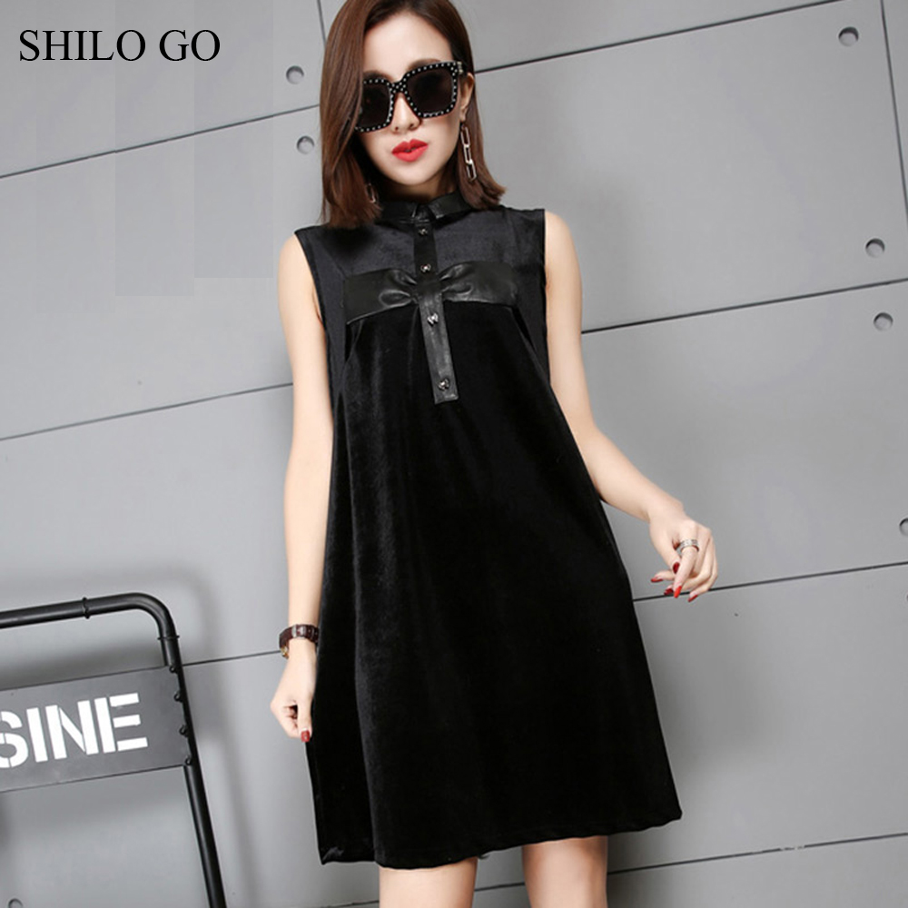 SHILO GO Leather Dress Womens Spring Fashion sheepskin genuine Leather Dress stand collar sleeveless single breasted A Line все цены