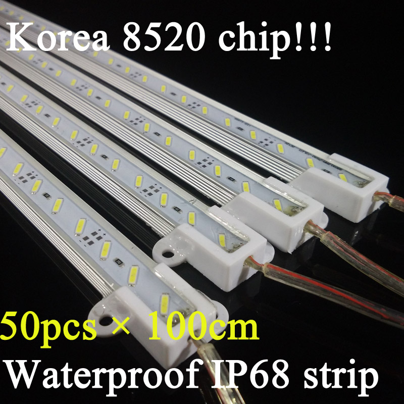 Lovely 10pcs 50cm 5630 Led Hard Rigid Strip Bar Double Row 72led White And Warmwhite Dc12v Cabinet Lights No Waterproof Kitchen Lamp Refreshment Led Lighting Led Bar Lights