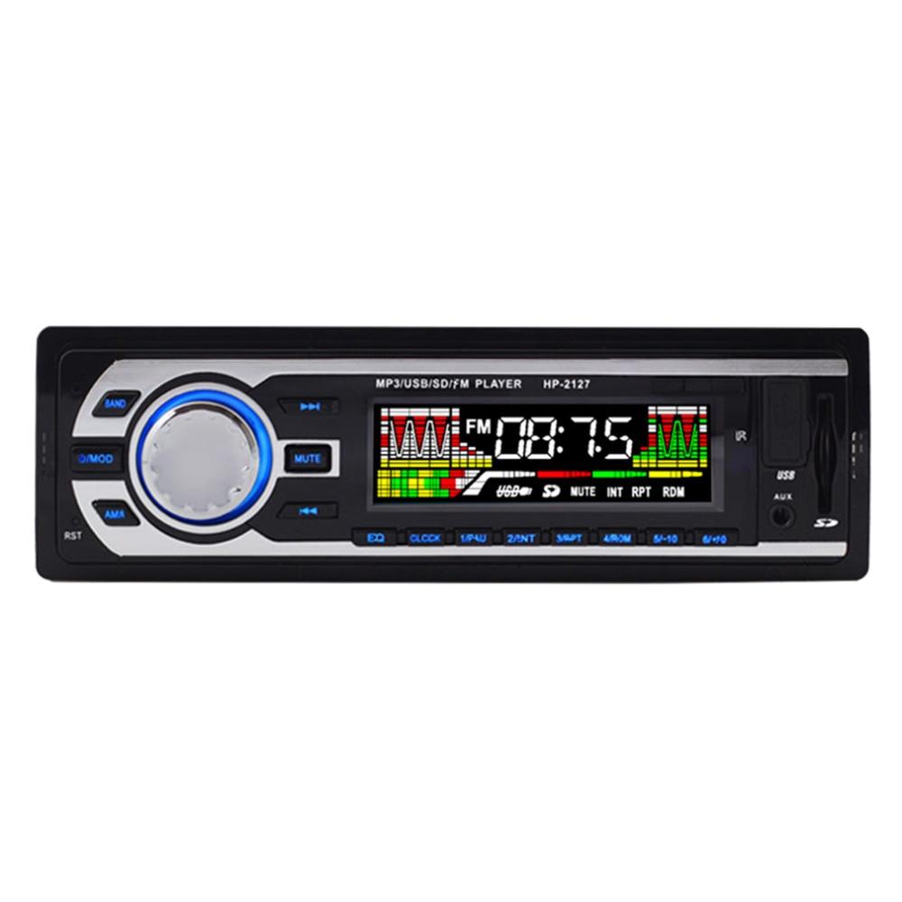 2016 Car MP3 Player LCD Display 7388 IC 12V HP 2127 Car Radio MP3 Genuine Support