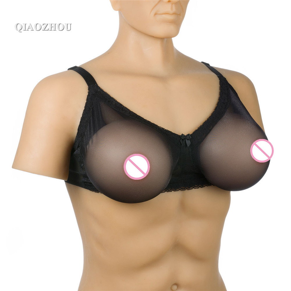 80 B realistic fake boobs formas de silicone for cross dresser transvestite silicone artificial breast with sexy lace bra new1000g d cup100%pure natural medical silica gel silicone breast cross dresser breast silicone mastectomy transvestite clothing