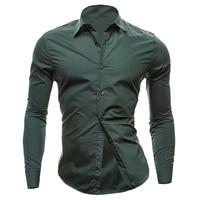 Hot sales nueva mens Camisas ocasionales adelgazan con estilo apto para hombre Camisas de traje hombres moda Camisas blanco y rojo Camisas para hombres