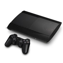 Carbon Fiber Vinyl Skin Sticker Protector For Sony PS3 Super Slim 4000 Console and 2 Gamepad Controller Skins Stickers(China)