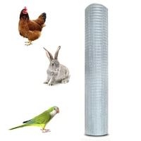 Shellhard 1Roll 30M Welded Wire Mesh Galvanized Panel Garden Chicken Rabbit Animal Fence Animal Cage