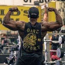 2018 New Brand mens sleeveless t shirts Summer Cotton Slim Men Tank Tops gyms Clothing Bodybuilding shirt Golds Fitness tops