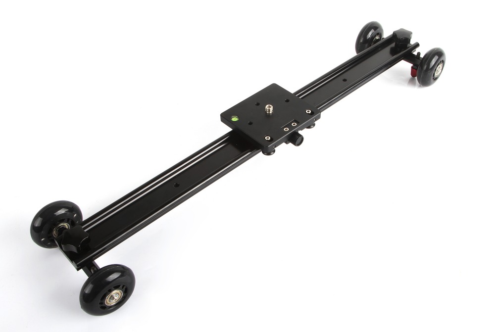 60cm 23'' Aluminum 4 Wheel Camera Slider Dolly Car Track Rail Video Stabilizer for DSLR DV Camcorder fotomate lp 02 200mm movable 2 way macro focusing rail slider black