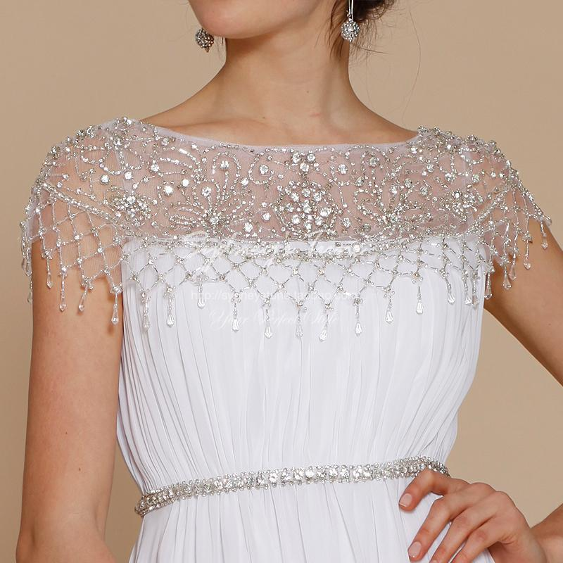 Cheap free shipping vestido de festa longo robe de soiree 2016 new fashion long chiffon crystal formal gown   evening     dresses