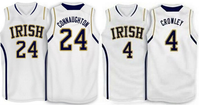 ebe51e44f Notre Dame Irish #24 Pat Connaughton basketball Jersey Customized #4  Patrick Crowley Yellow Jersey, Name and Number Stitched