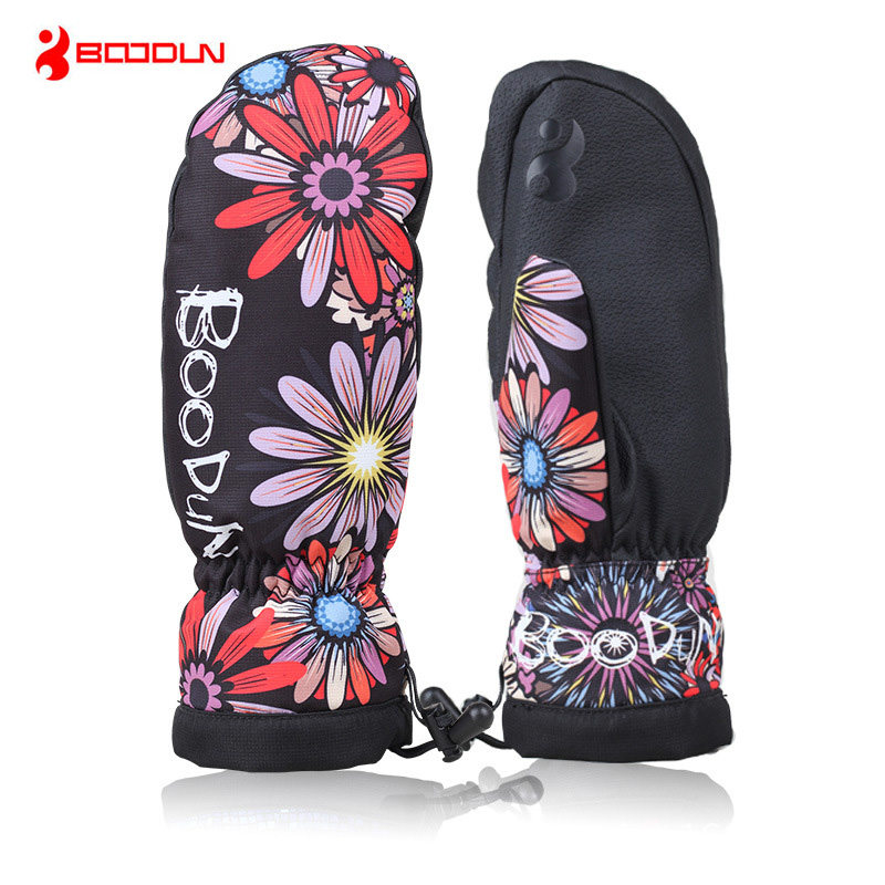Boodun Men Women Winter Thermal Fleece Ski Gloves Waterproof Windproof Snowboard Gloves Skiing Outdoor Sports Cycling Guantes