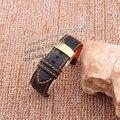 Relógio de tiras de tecido de fibra de carbono Acessórios Laranja fio de Aço linha de Implantação Fecho de Ouro Pulseira pulseiras 18 20 22 24mm