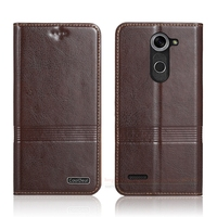 Retro Simple Genuine Leather Case For LG X mach 5.5