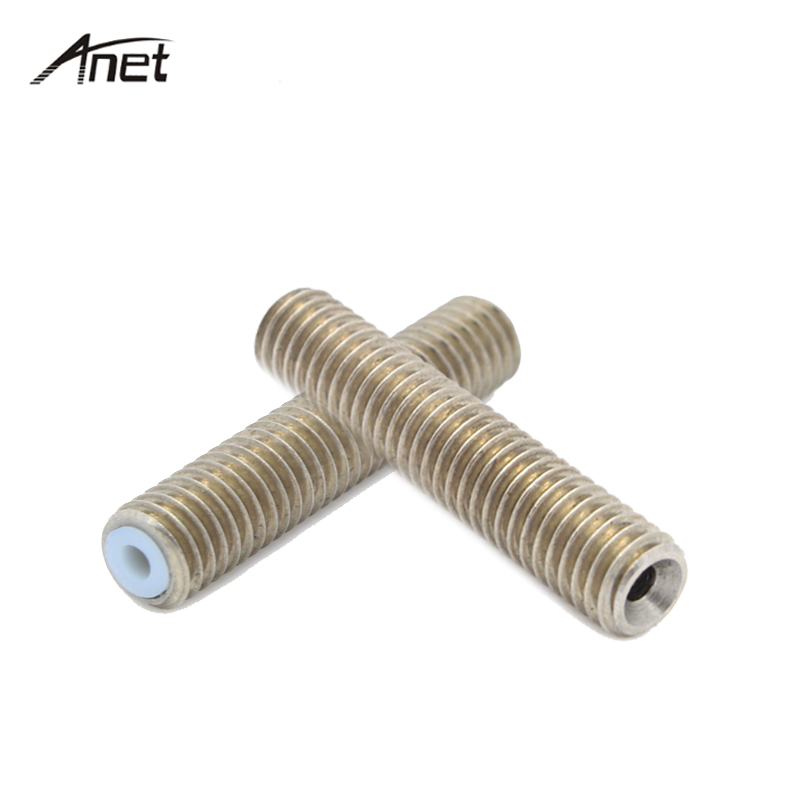 Anet 2pcs 3D Printer Accessories M6 30 Teflon Tube Parts Throat PTFE Pipe For 1 75mm