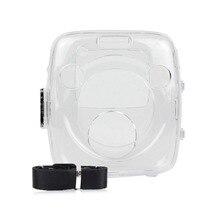 Caso de cristal PVC Transparente Alça de Ombro Bag Protector Shell Capa para fuji Instax Câmera de Filme Instantâneo Quadrado SQ10