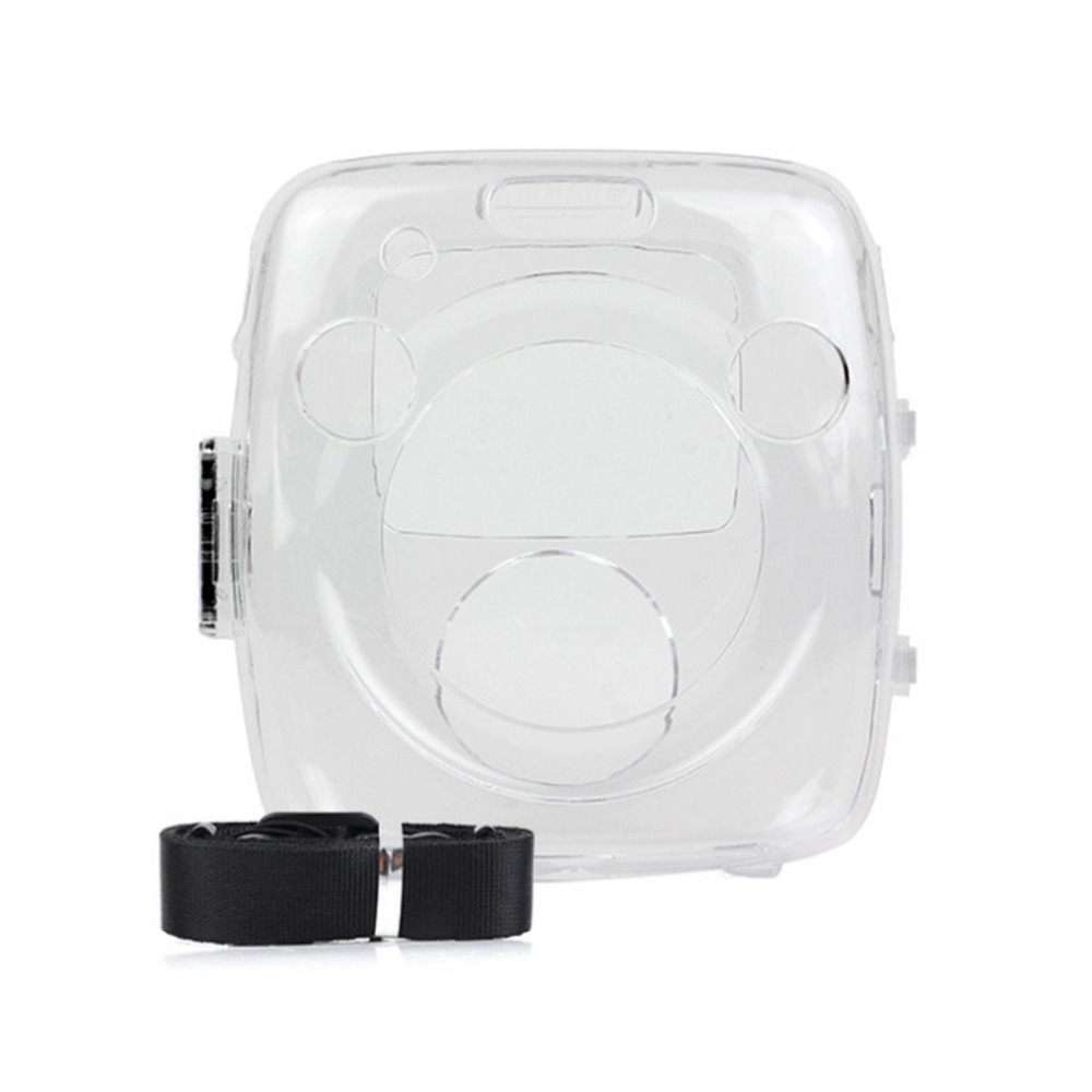 Crystal Case PVC Transparent Strap Shoulder Bag Protector Instant Film Camera Shell Cover for fuji Instax Square SQ10
