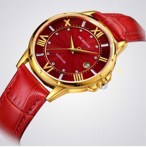 2019 femmes montres marque de luxe célèbre en cuir véritable japon mouvement montre-bracelet à Quartz femme automatique Date horloge Relogio Feminino - 3
