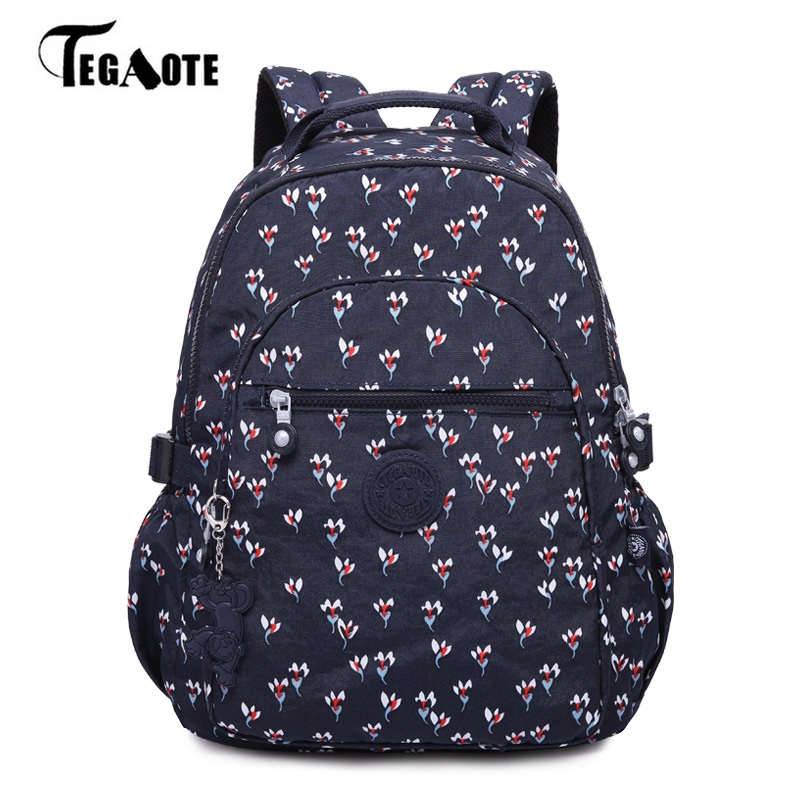 M063 School Backpack for Teenage Girls Mochila Feminine Backpacks Women Solid Famous Nylon Casual Laptop Bagpack Female 2017 New