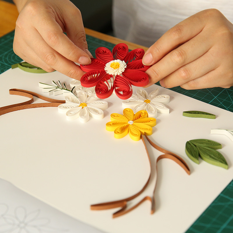 small deer paper quilling flower paper painting materials