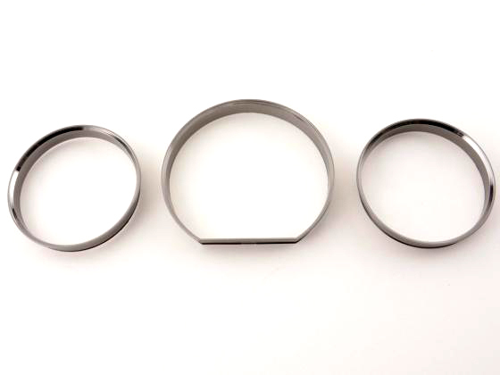 <font><b>Chrome</b></font> Styling Dashboard Gauge Ring Set for <font><b>Mercedes</b></font> Benz E Class <font><b>W124</b></font> image