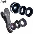 Aokin Fisheye Camera Lens 3 em 1 Kit de 198 Graus Clipe Fisheye lente 0.63x 15x lente macro lente grande angular para iphone samsung dg3