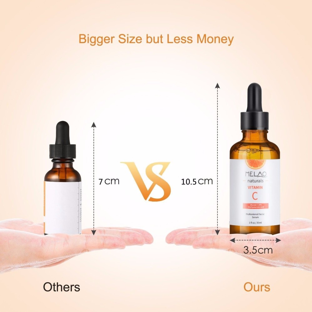 1Pc Natural Organic 30ml Vitamin C Serum Hyaluronic Acid Serum Moisturizing Anti Aging Whitening Facial Vitamins Skin Care TSLM2