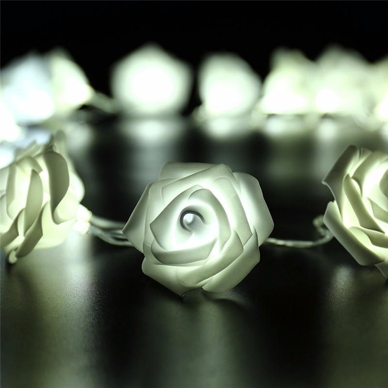 20 LED Novelty Rose Flower Fairy Strin (1)
