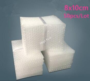 Bolsas de burbujas de amortiguación, 8x10cm, 50 Uds., 10mm, envoltura protectora de...